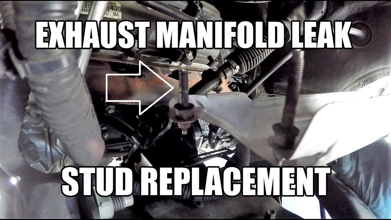 dodge ram hemi exhaust manifold stud replacement leak ticking fix
