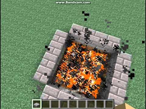Cách làm suối nước nóng cực kì đơn giản trong minecraft