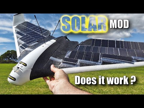 SOLAR Panel MOD Maiden Flight Test - Parrot Disco 4GLte Drone - How Much Longer Will it Fly?