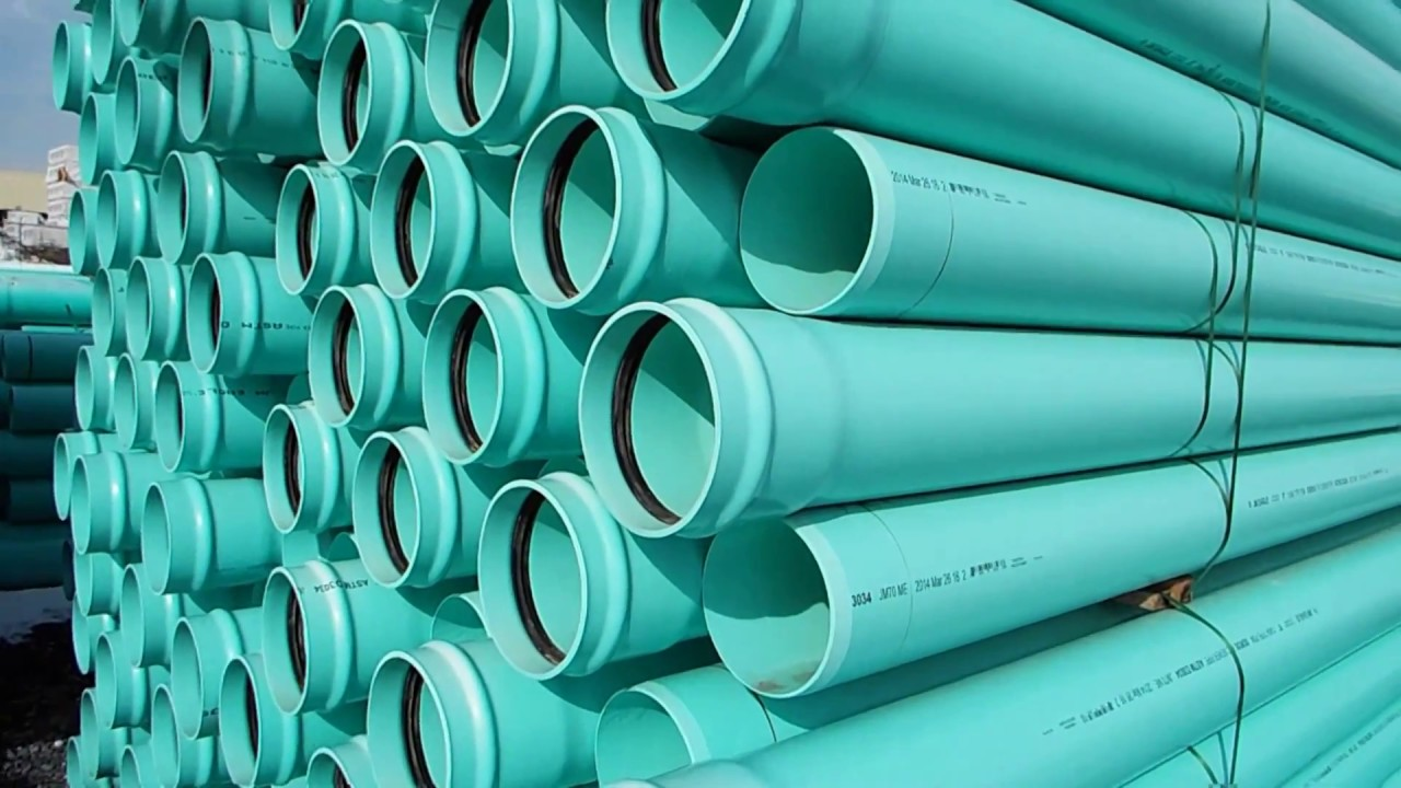 12 Inch JM PVC Gravity Sewer Pipe - YouTube