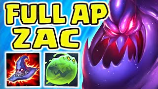 FULL AP ZAC IS BACK IN SEASON 10!! | 1V9 CHALLENGER COMEBACK | HUGE DAMAGE!!