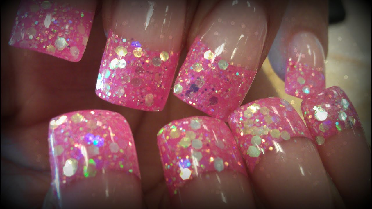 P2 How To Glittery Acrylic Nail Designs Youtube
