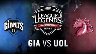 GIA vs. UOL - Week 2 Day 1   EU LCS Summer Split   Giants Gaming vs. Unicorns of Love (2018)