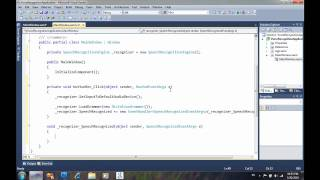 C# VoiceRecognition part 1