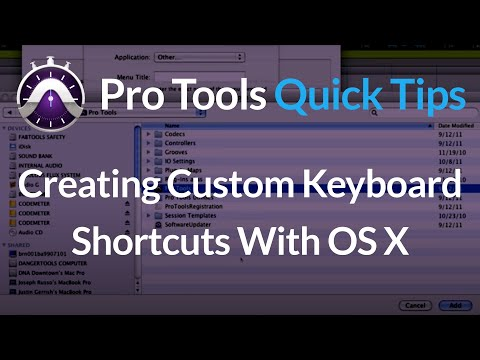 Creating Custom Pro Tools Keyboard Shortcuts with OS X