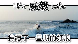 台灣持續了一星期的好浪  | Surfing Taiwan | 衝浪 | It's 威毅 Life
