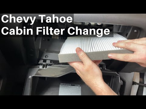 2015 – 2020 Chevy Tahoe Cabin Air Filter – How To Change Replace Remove Location – Chevrolet