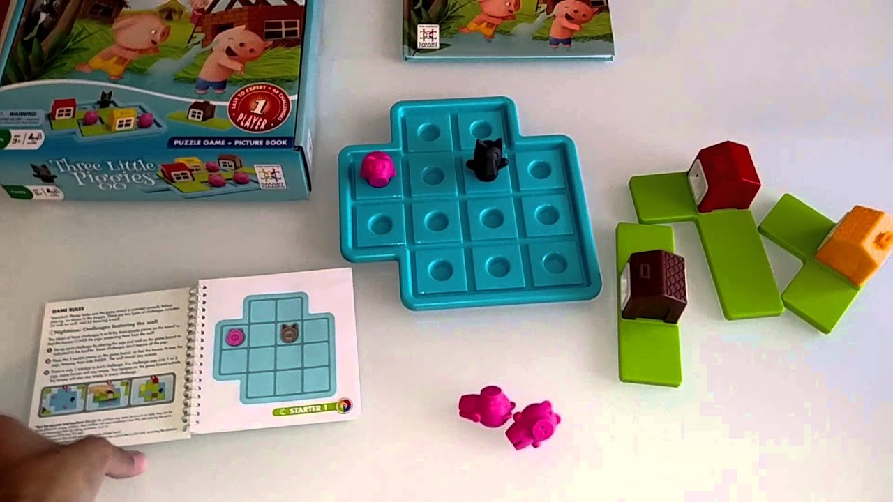 3 Little Piggies Logic Game For Children Smart Games