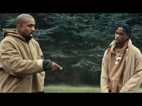 Kanye West arguing with Travis Scott over Drake