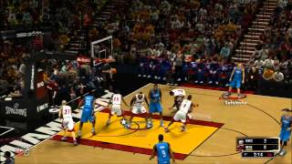 NBA 2K13: Partida comentada - Gameplay demo HD / Miami VS Oklahoma