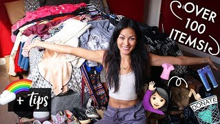 DECLUTTER IN 2018 // CLOSET CLEAN OUT + TIPS!! // Britt Lynn