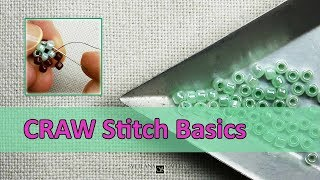 Learn Cubic Right Angle Weave (CRAW) stitch using one color or two color of beads