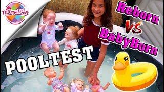POOLTEST für Puppen 👶 BABY BORN vs. REBORN Babies | Mileys Welt