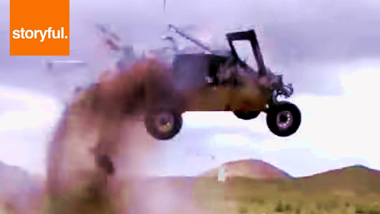Insane Rally Race Car Crash - YouTube
