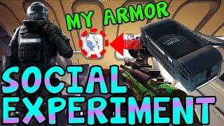 Video GIVING THE ENEMY ARMOR (SOCIAL EXPERIMENT) - Rainbow Six Siege download MP3, 3GP, MP4, WEBM, AVI, FLV Juli 2018