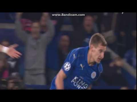 Marc Albrighton goal Leicester vs Sevilla 2:0