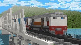 Minecraft Railfanning Indonesian Trains Animation
