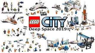 Lego City Deep Space 2019 Compilation of all Sets - Lego Speed Build Review