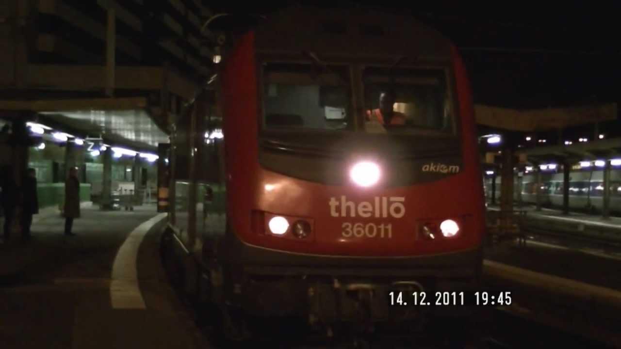 HD Gare de Lyon: Départ du train de nuit italien privée 221 Paris ...
