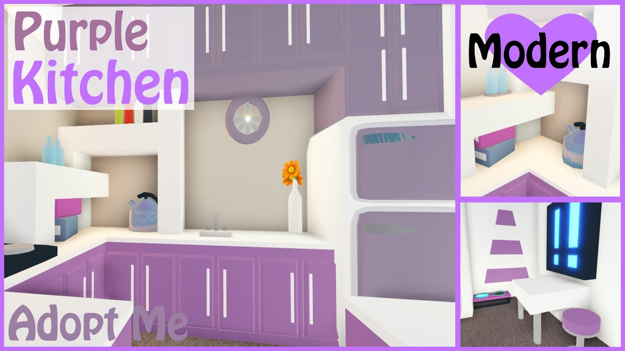 Purple Modern Kitchen Speed Build Adopt Me Roblox Youtube