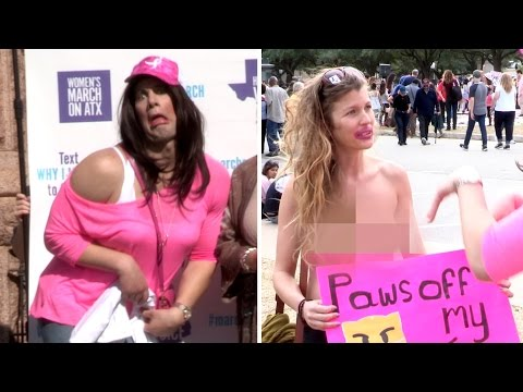 'Women's March' Crashed By Crowder... IN DRAG! (Featuring Wendy Davis)
