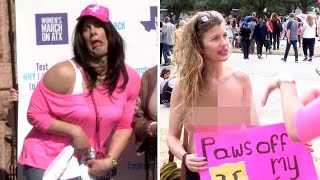 'Women's March' Crashed By Crowder... IN DRAG! (Featuring Wendy Davis)(, 2017-01-24T02:10:55.000Z)