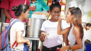 Annu Singh Uncut: Pani Puri Stealing prank Clip1   Eating Cute girl Pani Puri Prank   On BRannu