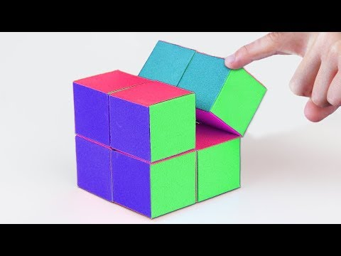 How To Make A Paper INFINITY CUBE | Fidget Toy | EASY Tutorial