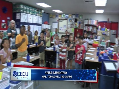 Pledge of Allegiance in Mrs.Topolovec class at Ayers Elementary School
