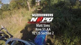 NEPG Muddobbers Section 2 Matt Sims YZ125