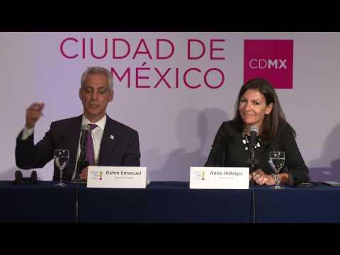 C40 Mayors Summit Press Conference: Paris & Chicago Urban Waterfront Forum Announcement