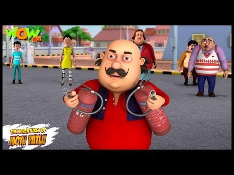 Motu Patlu New Episode  Cartoons  Kids TV Shows  Fire Extinguisher  Wow Kidz