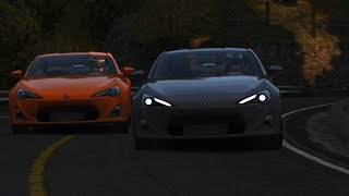 Extremely Close Touge Battle on Mt Akina! Touge Life Server Battles! - Assetto Corsa