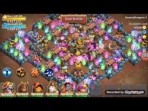 Castle Clash Insane Dungeon 3-10 100% (FTP)