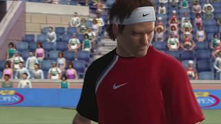 Top Spin 2 Roger Federer vs Lindsay Davenport - US OPEN (Xbox 360)
