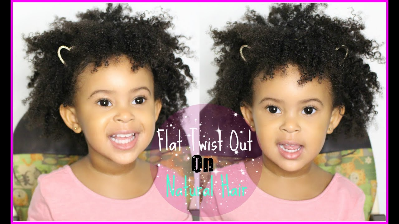 natural hair styles for kids: flat twist out || jessica pettway