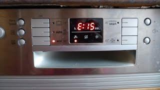 siemens bosch fehler error e15 geschirrspler splmaschine pumpt nur noch ab aquastop dishwasher