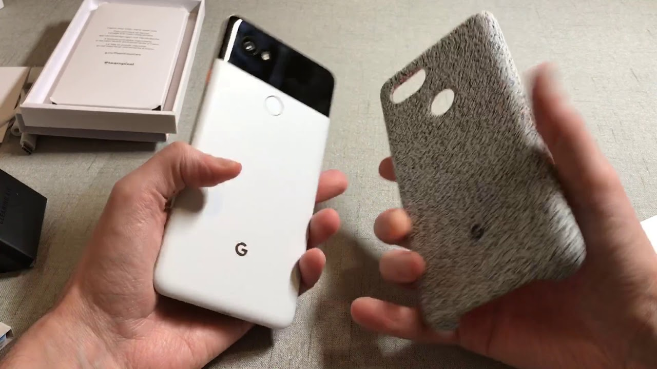 official photos 87cec c973e Official Pixel 2 XL Fabric Case Midnight Unboxing and Review