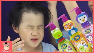뽀로로 로션 귀여운 아기 얼굴 바르기 ♡ 뽀로로 오프닝 함께 크롱 패티 장난감 친구들 도전 놀이 Pororo lotion toys | 말이야와아이들 MariAndKids