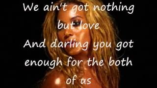 Beyoncé 1+1 lyrics on screen/discription