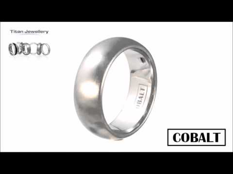 Men's 8mm Brushed Court Cobalt Wedding Ring