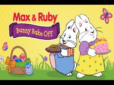 Max Ruby Bunny Bake Off Part 1 Best iPad app demo for kids