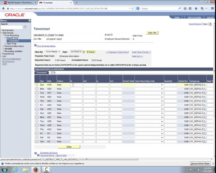 online time sheet