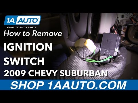 How to Remove Replace Ignition Switch 2009 Chevrolet Suburban