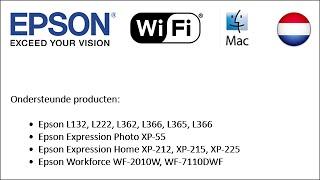 Hoe op te zetten Epson-printers met Wi-Fi-2014 te gebruiken (Mac NL)