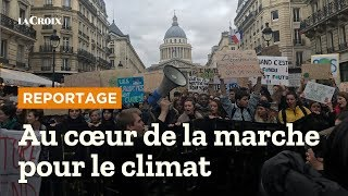 La marche des jeunes pour le climat à Paris