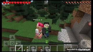 Alissa и Max играют в Minecraft. Выживание в майнкрафт серия 2.
