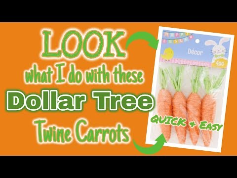 LOOK What I Do With These Dollar Tree TWINE CARROTS | QUICK & EASY Spring DIY's