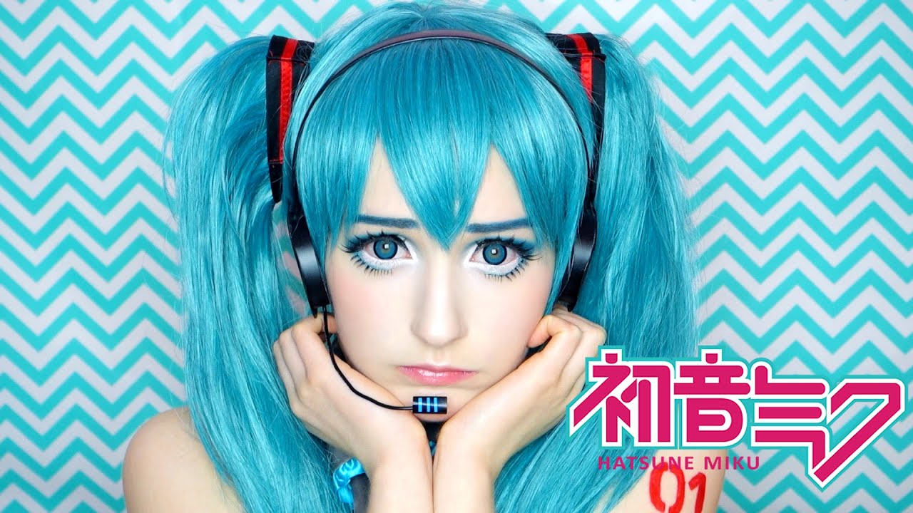 Super Hatsune Miku 初音ミクCosplay Makeup Tutorial コスプレメイク - YouTube NC14