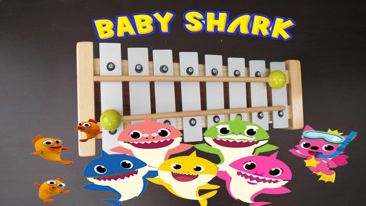 Baby Shark do do do ???/ Xilófono - Metalófono Canción Infantil - con notas musicales - Tutorial